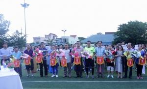 Tham gia giải bóng đá mini Cụm 3 Ngành Y tế năm 2019