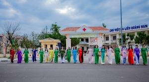 """Bệnh viện Da liễu Quảng Nam hưởng ứng phong trào """"Tuần lễ áo dài"""" (01/3/2021-08/3/2021)."""